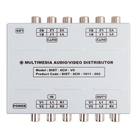 Універсальний розподілювач A/V-сигналу (1 на 3) Прев'ю 1