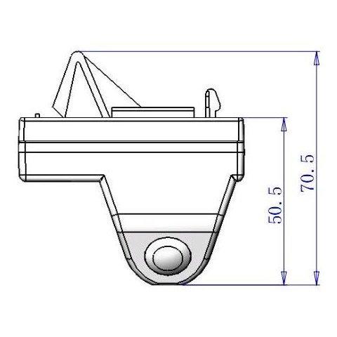 Автомобильная камера заднего вида для Toyota Land Cruiser 100/200 Превью 2