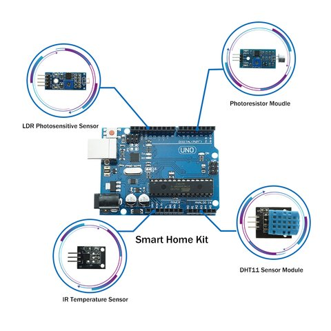 Набор Arduino Умный дом (на базе UNO R3) + руководство пользователя Превью 4